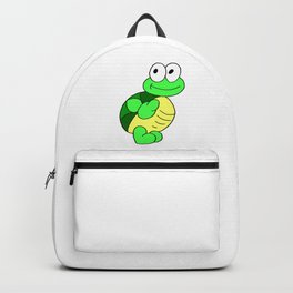 Drawn by hand a funny little turtle for children and adults Backpack