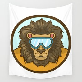 snow lion Wall Tapestry