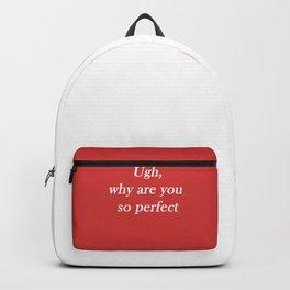 ugh: red Backpack