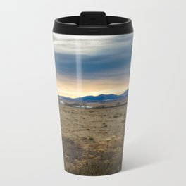 Forever West - Warm Light on a Cold Winter Morning in New Mexico Metal Travel Mug