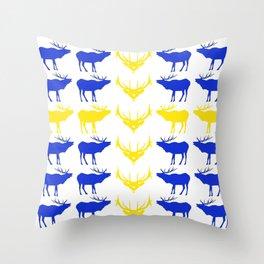 Graphic Swedish Elk Flag II Throw Pillow
