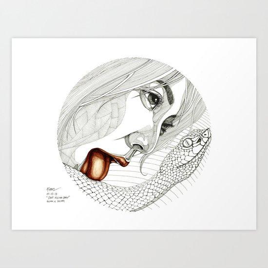 Don't kiss me baby Art Print