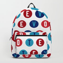 Vote 2020 pattern - red white and blue voter design Backpack