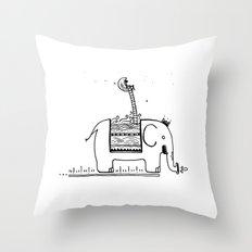 On My Elephant  Throw Pillow