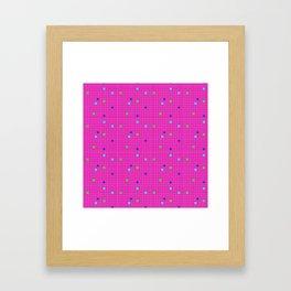 Geometric Grid Pattern Framed Art Print