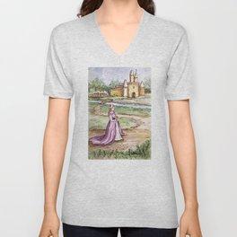 Lavender Princess Unisex V-Neck