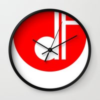 logo Wall Clocks featuring logo by davefallonphotography