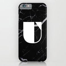Black Marble - Alphabet U Slim Case iPhone 6s