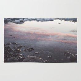 Jokulsarlon Lagoon - Sunset - Landscape and Nature Photography Rug