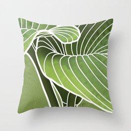 Hosta Detail Throw Pillow