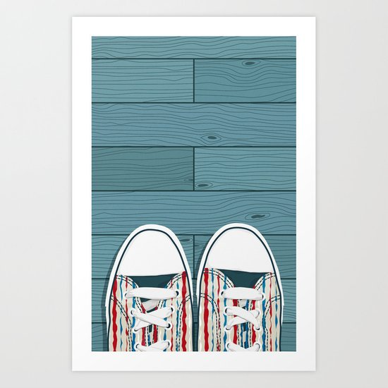 Out on the deck Art Print