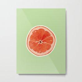 simple orange Metal Print