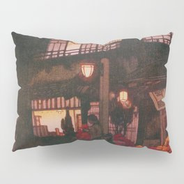Tokyo Junidai, Kagurazaka Street-rainy Night - Digital Remastered Edition Pillow Sham