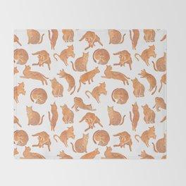 Cat Poses Throw Blanket
