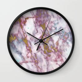 marble pink gold Wall Clock