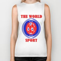 soccer Biker Tanks featuring SOCCER  by Robleedesigns