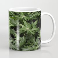 weed Mugs featuring Weed by Vyacheslav Sizov
