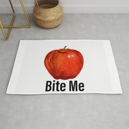 Muérdeme manzana roja Rug