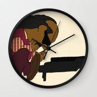 stevie nicks Wall Clocks featuring Stevie Schroeder by happytunacreative