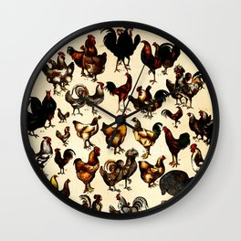 The Poultry of the World Wall Clock