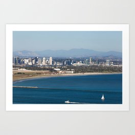 Point Loma Skyline Art Print