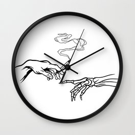 Cigarette Hand Wall Clock