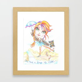 Take A Chance Framed Art Print