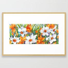 Daffodils & Jonquils, Wild and Free Framed Art Print