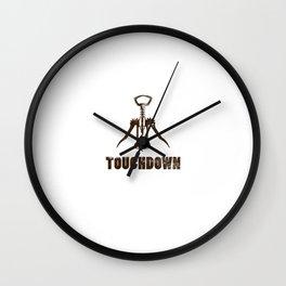 Wine corkscrew Touchdown Wall Clock