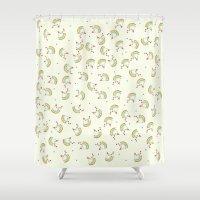 chicken Shower Curtains featuring Chicken by Natalia Burgos