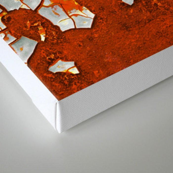 Rust and Grey Canvas Print
