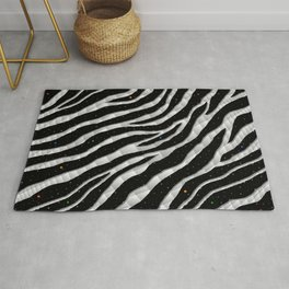 Ripped SpaceTime Stripes - White Rug