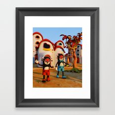 Goodbye Matatoon town Framed Art Print