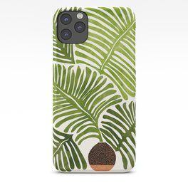 Summer Fern / Simple Modern Watercolor iPhone Case