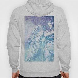 Celestial Guardian Angel Periwinkle Blue Hoody
