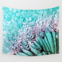 Dew on dandelions II Wall Tapestry