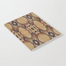 Khaki Tan Orange Dark Brown Native American Indian Mosaic Pattern Notebook