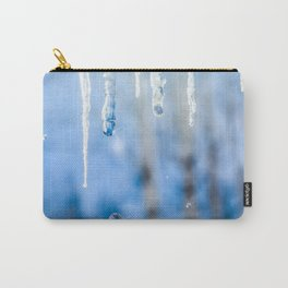 Icicles and drops in a birch grove Carry-All Pouch