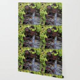 Overgrown Machinery Wallpaper