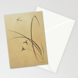 Orchid and Dragonfly Stationery Cards