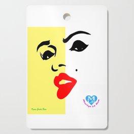 MARILYN LA ROE ... graphic logo yellow Cutting Board