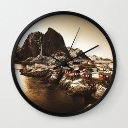 reine village Wall Clock