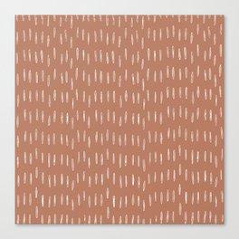 Boho Raindrops Abstract Pattern, Terracotta Canvas Print