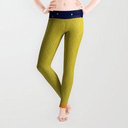 Create Happiness Modern Geometric Masculine Leggings