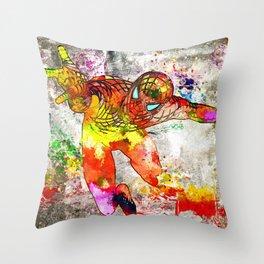 Spidey Grunge Throw Pillow
