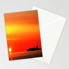 Sunset Silhouette Stationery Cards