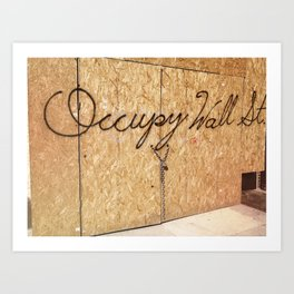 Occupy Wall Street on Storefront Photo Art Print