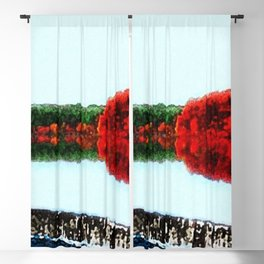 Horseshoe Dam - Scituate Reservoir Landscape by Jeanpaul Ferro Blackout Curtain