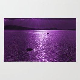 Ultraviolet Lakescene Scandinavian View #decor #society6 #homedecor Rug