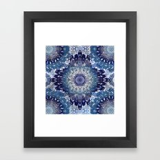 Indigo Lace Mandalas Framed Art Print